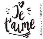 happy valentine lettering je t... | Shutterstock .eps vector #1008990121