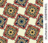 seamless pattern ethnic style.... | Shutterstock .eps vector #1008998401