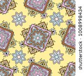 seamless pattern ethnic style.... | Shutterstock .eps vector #1008998434