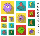 types of funny microbes flat... | Shutterstock .eps vector #1008999511