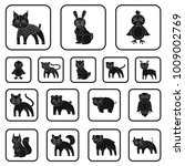 toy animals black icons in set... | Shutterstock .eps vector #1009002769