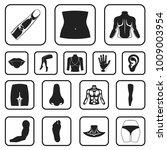 part of the body  limb black...   Shutterstock .eps vector #1009003954