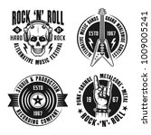 rock n roll music set of vector ... | Shutterstock .eps vector #1009005241
