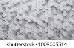 technical 3d white hexagonal...   Shutterstock . vector #1009005514