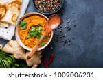 traditional indian lentils dal  ... | Shutterstock . vector #1009006231