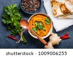 traditional indian lentils dal  ... | Shutterstock . vector #1009006255