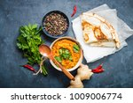 traditional indian lentils dal  ... | Shutterstock . vector #1009006774