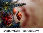 closeup of a red toy hanging on ... | Shutterstock . vector #1009007395
