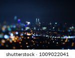 blurred dramatic night view of... | Shutterstock . vector #1009022041