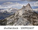 Cathedral Peak and Mount Conness Yosemite National Park, California - stock photo