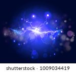 plasma or lightning fractal ...   Shutterstock . vector #1009034419