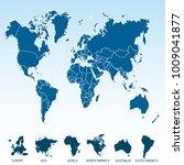 world map. europe asia america... | Shutterstock .eps vector #1009041877