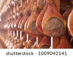 in a ham factory there are... | Shutterstock . vector #1009042141