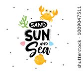 sand  sun and sea. summer... | Shutterstock .eps vector #1009047511