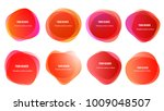 abstract blur shapes red color... | Shutterstock .eps vector #1009048507