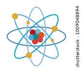 atom science symbol   Shutterstock .eps vector #1009048894