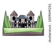 modern castle icon image   Shutterstock .eps vector #1009049251