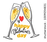 happy valentine's day card with ... | Shutterstock .eps vector #1009054831