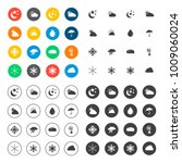 weather icons set | Shutterstock .eps vector #1009060024