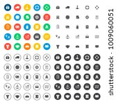 shipping icons set | Shutterstock .eps vector #1009060051