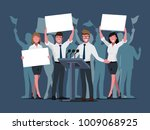 elections and voting concept... | Shutterstock .eps vector #1009068925