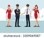 welcome to travel by plane.... | Shutterstock .eps vector #1009069087