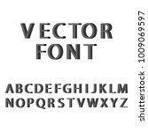 raster 3d flat style font. set  ... | Shutterstock . vector #1009069597