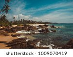 coast of indian ocean with... | Shutterstock . vector #1009070419