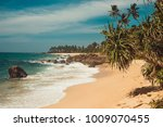 indian ocean coast with stones... | Shutterstock . vector #1009070455