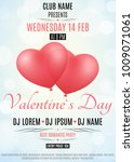 valentines day party flyer.... | Shutterstock .eps vector #1009071061