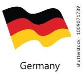 raster illustration waving flag ... | Shutterstock . vector #1009071739