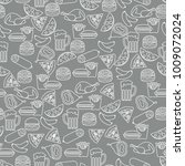seamless pattern with different ... | Shutterstock .eps vector #1009072024