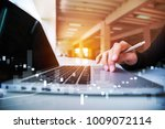 close up hand businessman doing ... | Shutterstock . vector #1009072114