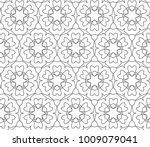 seamless ornamental vector... | Shutterstock .eps vector #1009079041