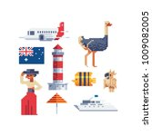 pixel art 80s style. australia...   Shutterstock .eps vector #1009082005