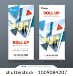 business roll up banner stand.... | Shutterstock .eps vector #1009084207