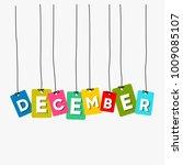 december hanging words vector ... | Shutterstock .eps vector #1009085107