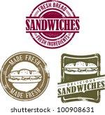vintage style fresh deli... | Shutterstock .eps vector #100908631