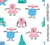 seamless vaector pattern with... | Shutterstock .eps vector #1009087504