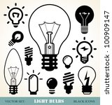 set of light bulbs icons | Shutterstock .eps vector #100909147