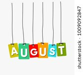 august hanging words vector ... | Shutterstock .eps vector #1009092847