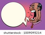 angry boss screaming  the giant ... | Shutterstock .eps vector #1009095214