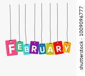 february hanging words vector ... | Shutterstock .eps vector #1009096777