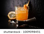 alcoholic cocktail of orange... | Shutterstock . vector #1009098451
