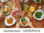 eating and leisure concept  ... | Shutterstock . vector #1009099141