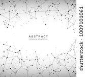 plexus array pattern. particles ... | Shutterstock .eps vector #1009101061