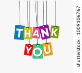 thank you hanging words vector  ... | Shutterstock .eps vector #1009106767