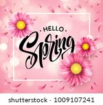 daisy flower background and... | Shutterstock .eps vector #1009107241