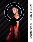 portrait young african woman... | Shutterstock . vector #1009110721