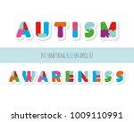 autism awareness. puzzle... | Shutterstock .eps vector #1009110991